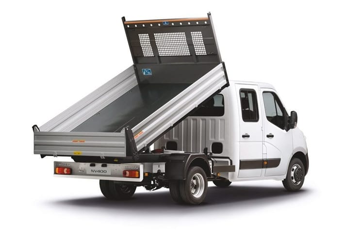 Nissan NV400 L2 35TW RWD 2.3 dCi DRW 145PS Tekna Tipper Manual [Start Stop] back view