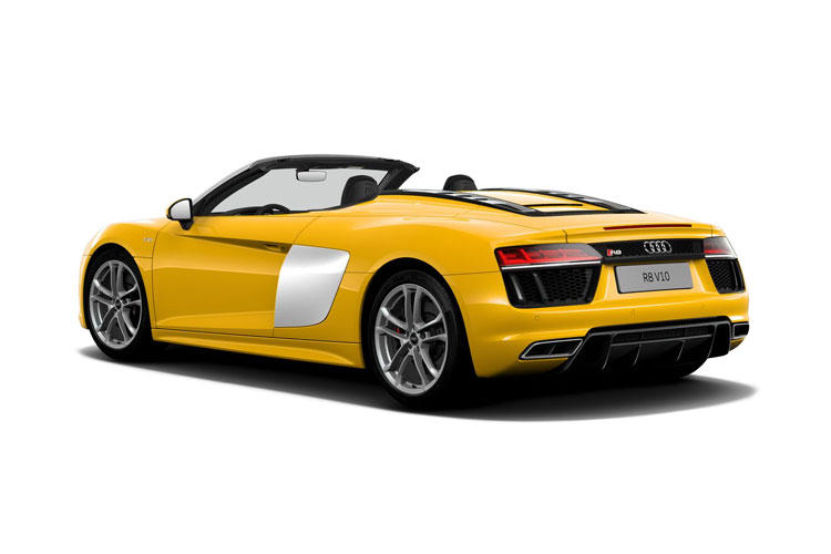 Audi R8 Spyder Convertible quattro 5.2 FSI V10 570PS  2Dr S Tronic [Start Stop] back view