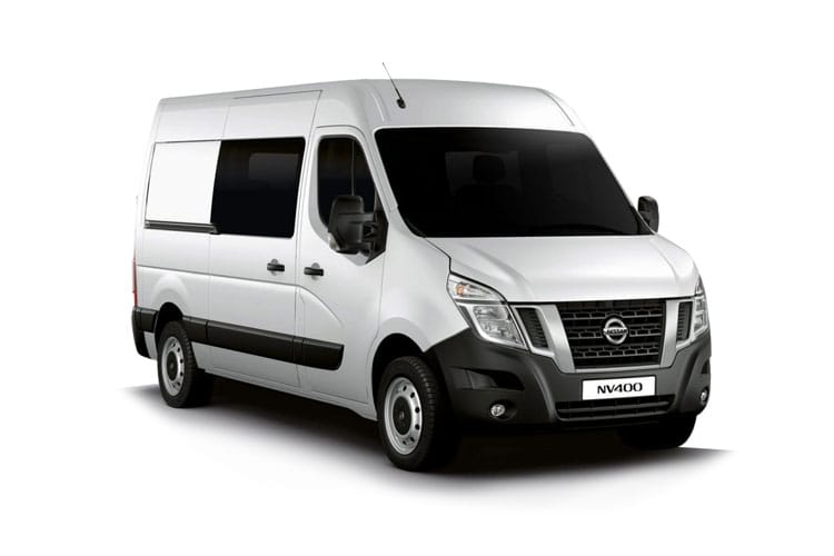 Nissan NV400 L3 35 FWD 2.3 dCi FWD 150PS Tekna Crew Van Medium Roof Manual [Start Stop] front view
