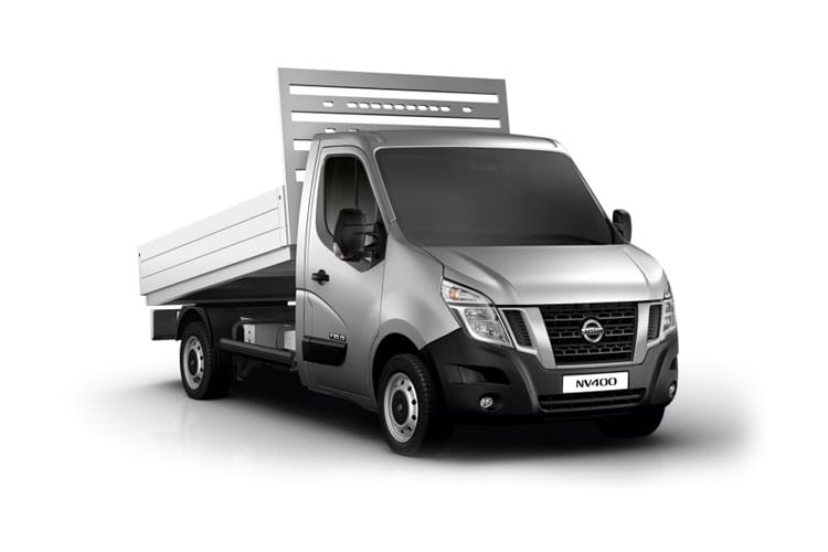Nissan NV400 L2 35TW RWD 2.3 dCi DRW 145PS Tekna Tipper Manual [Start Stop] front view